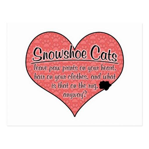 A pata do sapato de neve imprime o humor do gato cartões postais