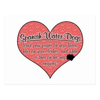 A pata espanhola do cão de água imprime o humor cartões postais