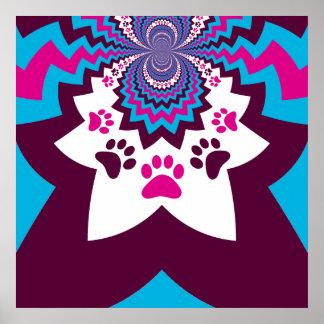 A pata Funky do cão de filhote de cachorro imprime Posteres