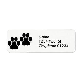 A pata imprime etiquetas de endereço do remetente