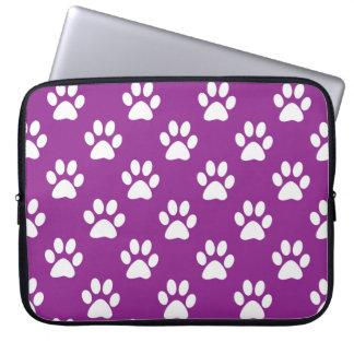A pata roxa e branca imprime o teste padrão sleeve para notebook