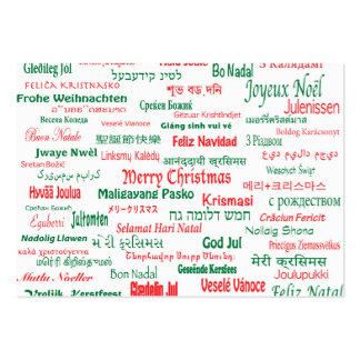 A paz coexiste Feliz Natal feliz muitas línguas Cartão De Visita Grande