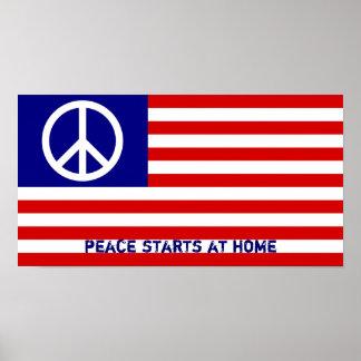 A paz começa em casa pôsteres