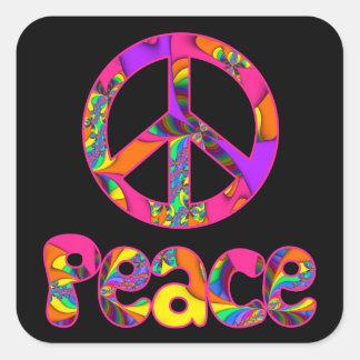 A paz do Fractal colore-me etiquetas brilhantes