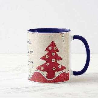 A paz e ama esta caneca do Natal da época