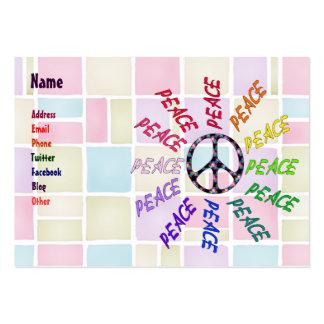A paz exprime o círculo cartão de visita grande