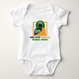 A paz interna estimula o sucesso financeiro body para bebê