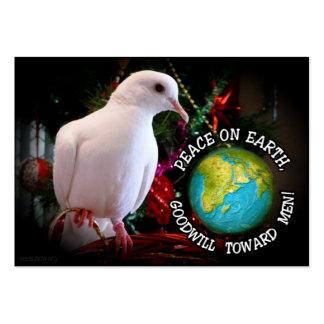 A paz na terra distribui o cartão modelos cartões de visita