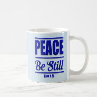 A paz seja caneca de café ainda cristã