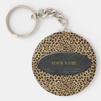 A pedra do leopardo do chaveiro adiciona seu nome