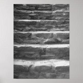 A pedra preto e branco pisa foto pôster