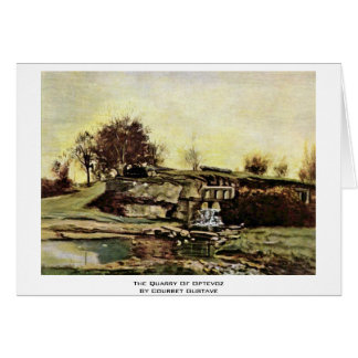 A pedreira de Optevoz por Courbet Gustave Cartão
