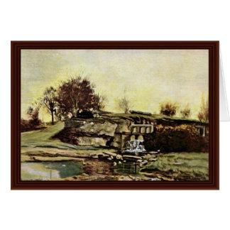 A pedreira de Optevoz por Courbet Gustave Cartões
