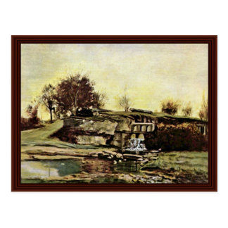 A pedreira de Optevoz por Courbet Gustave Cartao Postal
