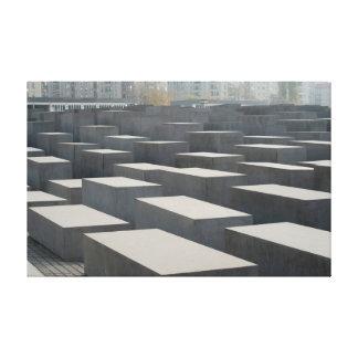 A pele de Denkmal morre ermordeten Juden Europas Impressão De Canvas Esticada