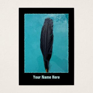 A pena do corvo cartão de visitas
