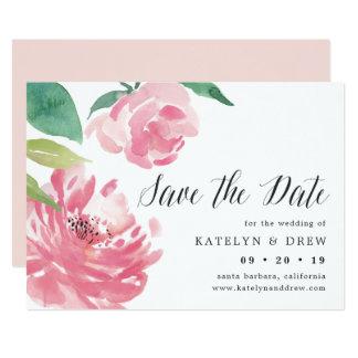 A peônia de florescência salvar o cartão de data