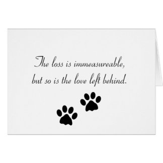 A perda é immeasureable… Cartão de simpatia