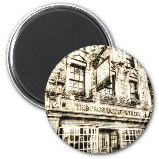 A perspectiva do vintage de Londres do bar de Ímã Redondo 5.08cm