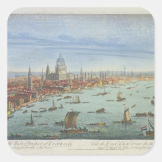 A perspectiva ocidental sul de Londres, de Adesivo Quadrado