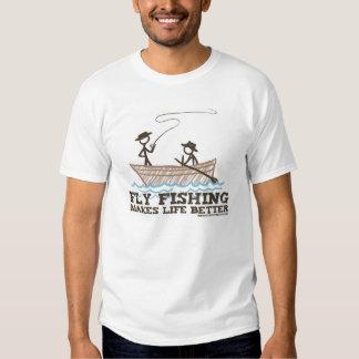 A pesca com mosca faz a vida melhor camisetas