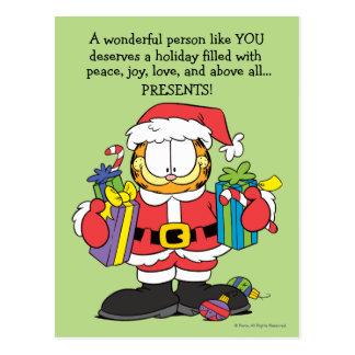 A pessoa maravilhosa gosta de você cartoes postais