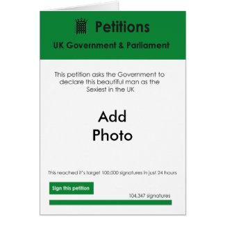 """A petição a mais """"sexy"""" dos namorados do homem cartão comemorativo"""