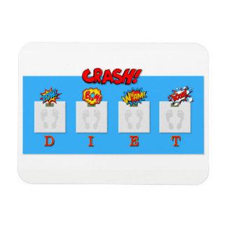 A piada no impacto faz dieta ilustrações no ímã