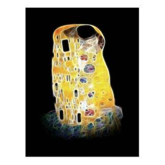 A pintura amarela de Gustavo Klimt Digital do beij Cartões Postais