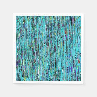 A pintura azul goteja guardanapo
