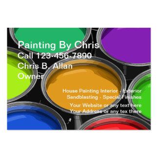 A pintura colorida enlata cartões de visitas do