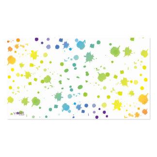A pintura da cor goteja o cartão modelo cartão de visita
