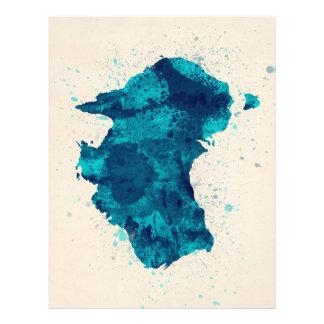 A pintura de Austrália espirra o mapa Panfletos Personalizado