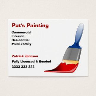 A pintura presta serviços de manutenção a cartões