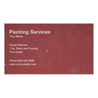 A pintura presta serviços de manutenção ao cartão cartão de visita