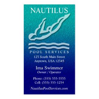 A piscina presta serviços de manutenção a cartões  cartão de visita