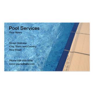 A piscina presta serviços de manutenção ao cartão cartoes de visita