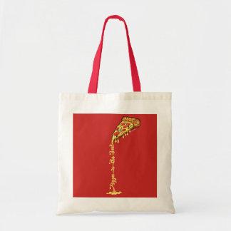 A pizza é o melhor bolsa tote