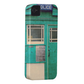 a polícia antiquado telefona à caixa capa para iPhone 4 Case-Mate