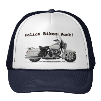 A polícia Bikes o chapéu da rocha Bonés