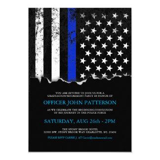 A polícia denomina o convite da bandeira americana convite 12.7 x 17.78cm