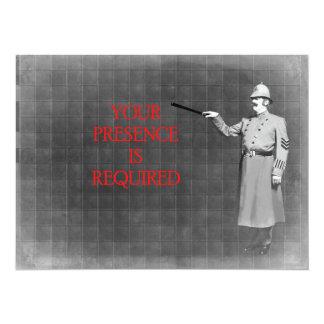 A polícia do vintage equipa a ilustração convite 13.97 x 19.05cm