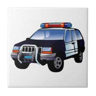 A polícia ostenta o veículo utilitario (SUV) Azulejo De Cerâmica