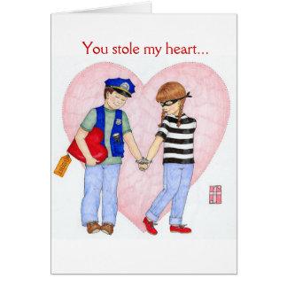 A polícia seja o cartão dos namorados da mina