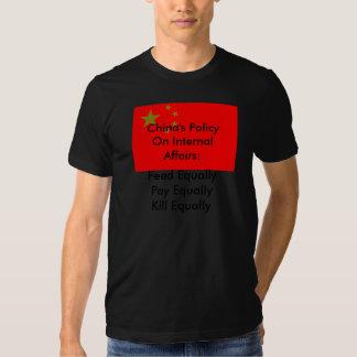 A política de China em assuntos internos T-shirt