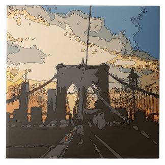 A ponte de Brooklyn Azulejo