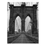 A ponte de Brooklyn na Nova Iorque Cartão Postal