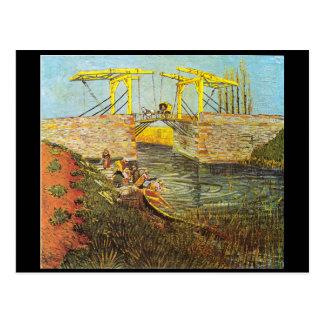 A ponte de Langlois em Arles. Van Gogh Cartão Postal