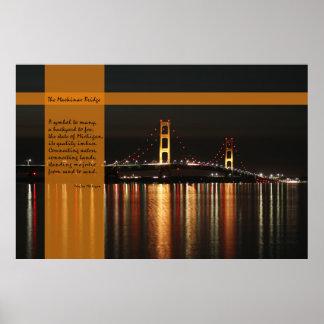 A ponte de Mackinac - poster