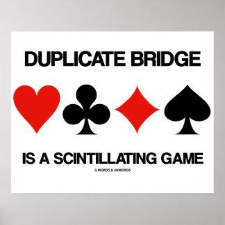 A ponte duplicada é um jogo cintilando poster